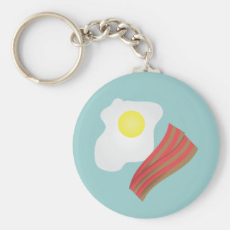 Bacon and Eggs Breakfast Key Ring