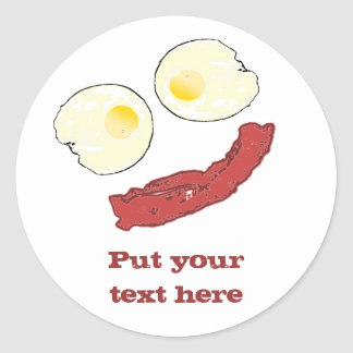 Bacon and Eggs Classic Round Sticker