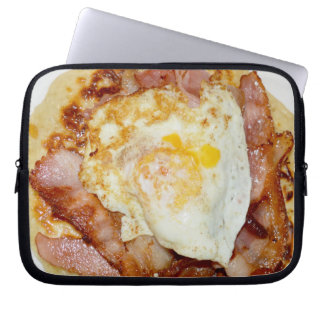 Bacon_And_Eggs_Fritter,_10_Inch_Laptop_Sleeve Laptop Computer Sleeve