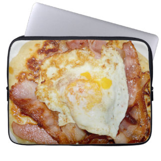 Bacon_And_Eggs_Fritter,_13_Inch_Laptop_Sleeve Laptop Sleeve