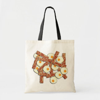 Bacon and Eggs Pattern Budget Tote Bag