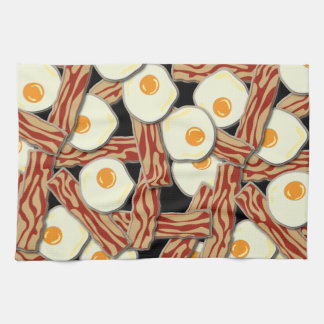 Bacon and Eggs Pattern Towel
