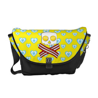 Bacon and eggs skull and crossbones commuter bags