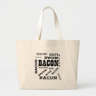Bacon Bacon Bacon Tote Bags