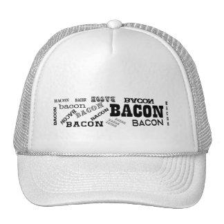 Bacon Bacon Bacon Trucker Hats
