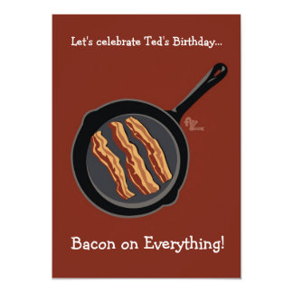 Bacon Birthday Party Invitation