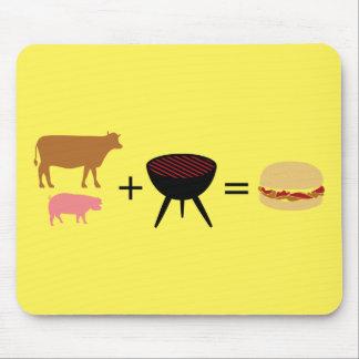 Bacon Burger Recipe Mouse Pad
