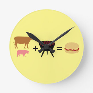 Bacon Burger Recipe Round Clock