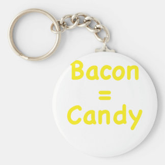 Bacon Candy Keychain