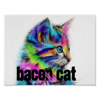 bacon cat 2 poster