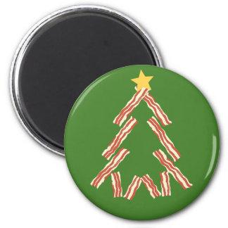 Bacon Christmas Tree 6 Cm Round Magnet