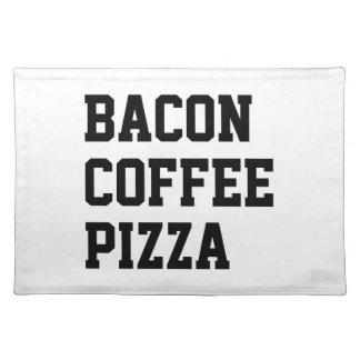 Bacon Coffee Pizza Placemat