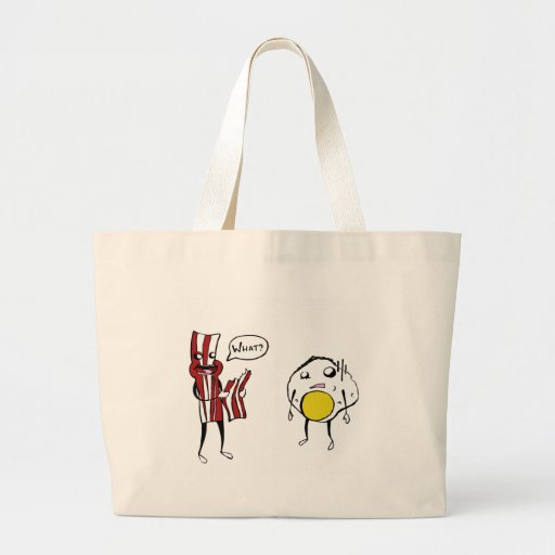 Bacon Eating Bacon Tote Bag
