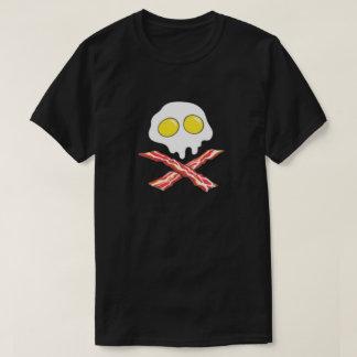 Bacon Egg Skull Crossbones Pork Lover Breakfast T-Shirt