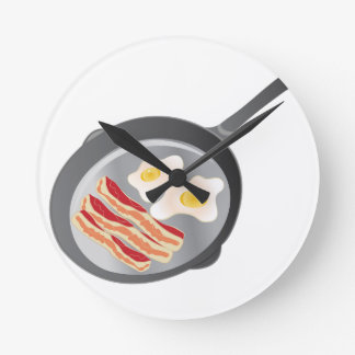 Bacon & Eggs Round Clock
