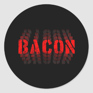Bacon Fade Round Sticker