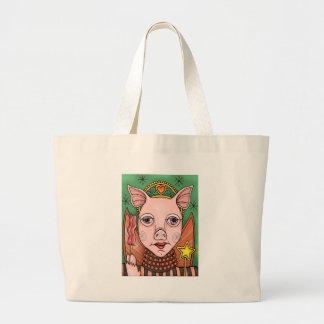 Bacon Fairy Color Large Tote Bag