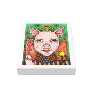 Bacon Fairy Princess Color Design Canvas Print