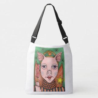 Bacon Fairy Princess Color Design Crossbody Bag