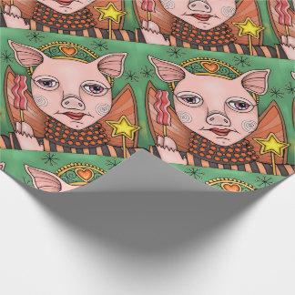 Bacon Fairy Princess Color Design Wrapping Paper