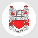 Bacon Family Crest Sticker