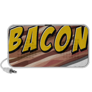 Bacon flavour travel speakers