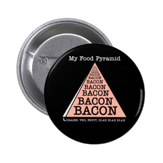 Bacon Food Pyramid Buttons