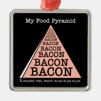 Bacon Food Pyramid Ornament