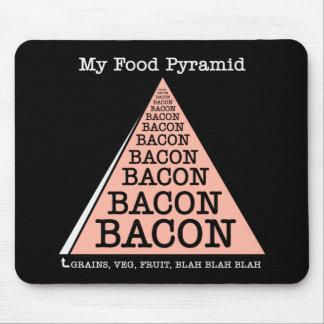 Bacon Food Pyramid Mouse Pad