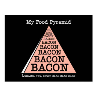 Bacon Food Pyramid Postcard