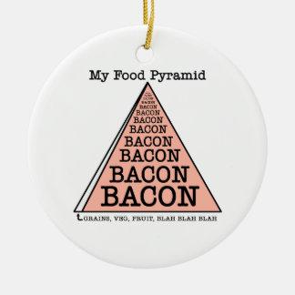 Bacon Food Pyramid Round Ceramic Decoration