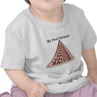 Bacon Food Pyramid Tees