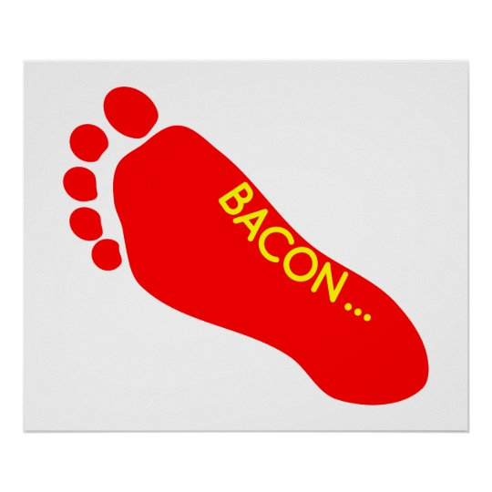 Bacon Foot Tattoo Poster