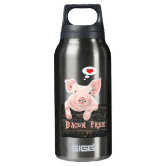 Bacon Free Piggy Insulated Water Bottle