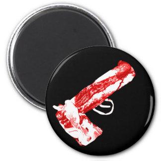 Bacon Gun 6 Cm Round Magnet