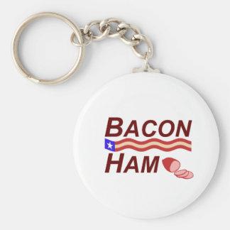 Bacon Ham Campaign Key Ring