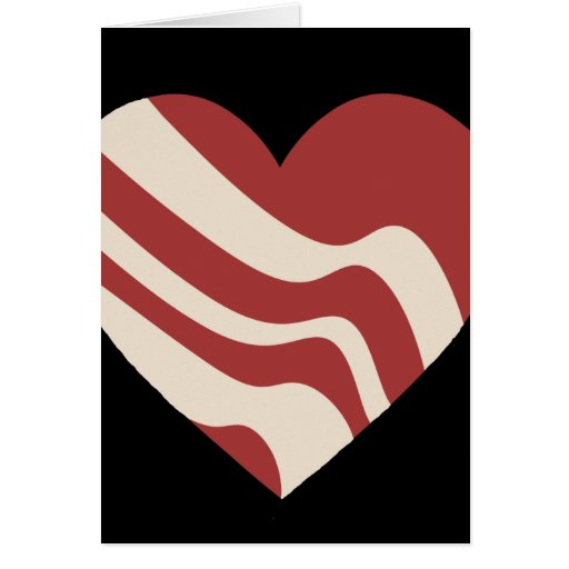 Bacon Heart Greeting Card