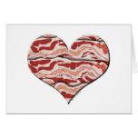 Bacon Hearted Card