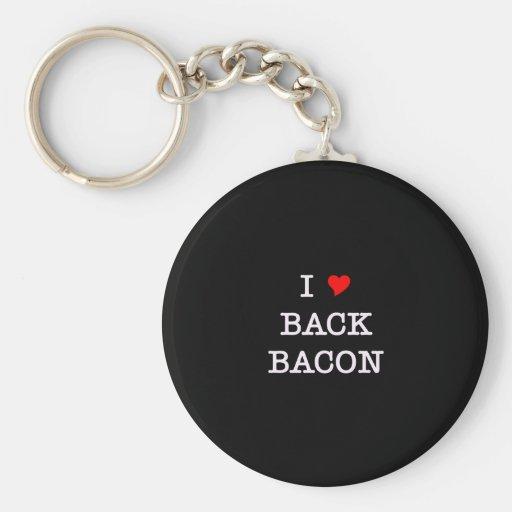 Bacon I Love Back Keychain
