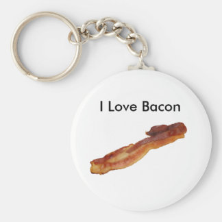 bacon, I Love Bacon Key Ring