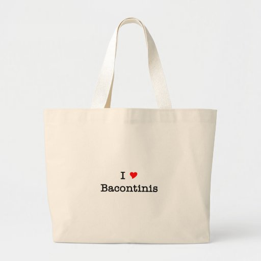 Bacon I Love Bacontinis Canvas Bag