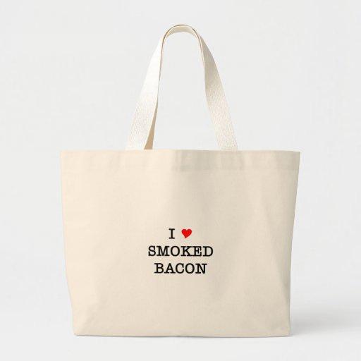 Bacon I Love Smoked Canvas Bag