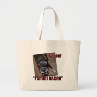 Bacon, I Smell Bacon Large Tote Bag