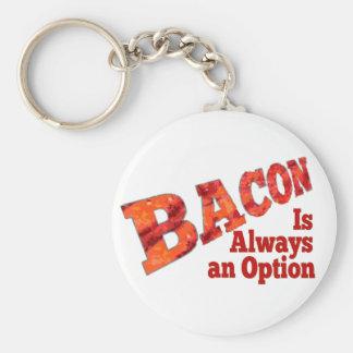 Bacon is Always an Option Keychain