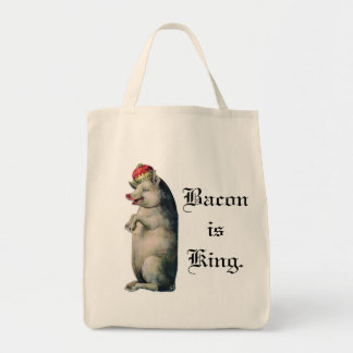 Bacon is King Grocery Tote Bag