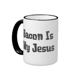 Bacon Is My Jesus Ringer Mug