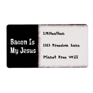 Bacon Is My Jesus Shipping Label