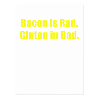 Bacon is Rad Gluten is Bad Postcard