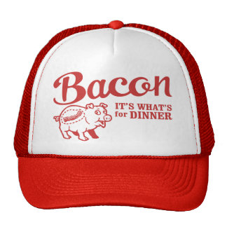 bacon - it s whats for dinner mesh hat