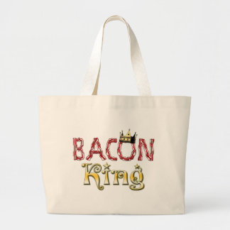 Bacon King with Crown Canvas Bags
